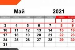 Майские праздники по Указу Президента РФ продлятся с 1 по 10 мая 2021 года